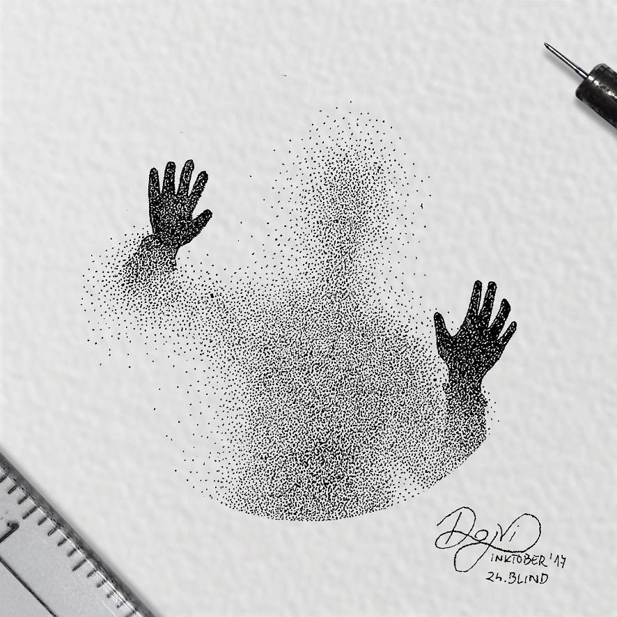 08-Blind-Dejvid-Stippling-Illustrator-using-Dots-to-Draw-www-designstack-co