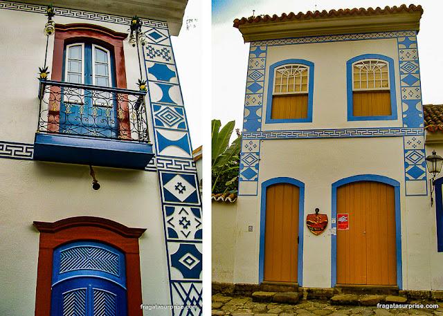 Símbolos macônicos nas fachadas de Paraty