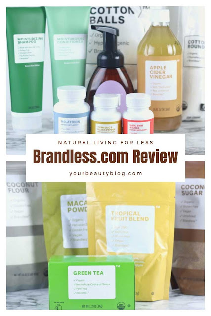 Are you trying to live a natural living lifestyle? Try Brandless products for all natural living. Read this Brandless review for beauty, food, shampoo, and conditioner.  Is Brandless legit? See what products I bought and how I like them.  #brandless #natural #shampoo #conditioner #beauty #wellness