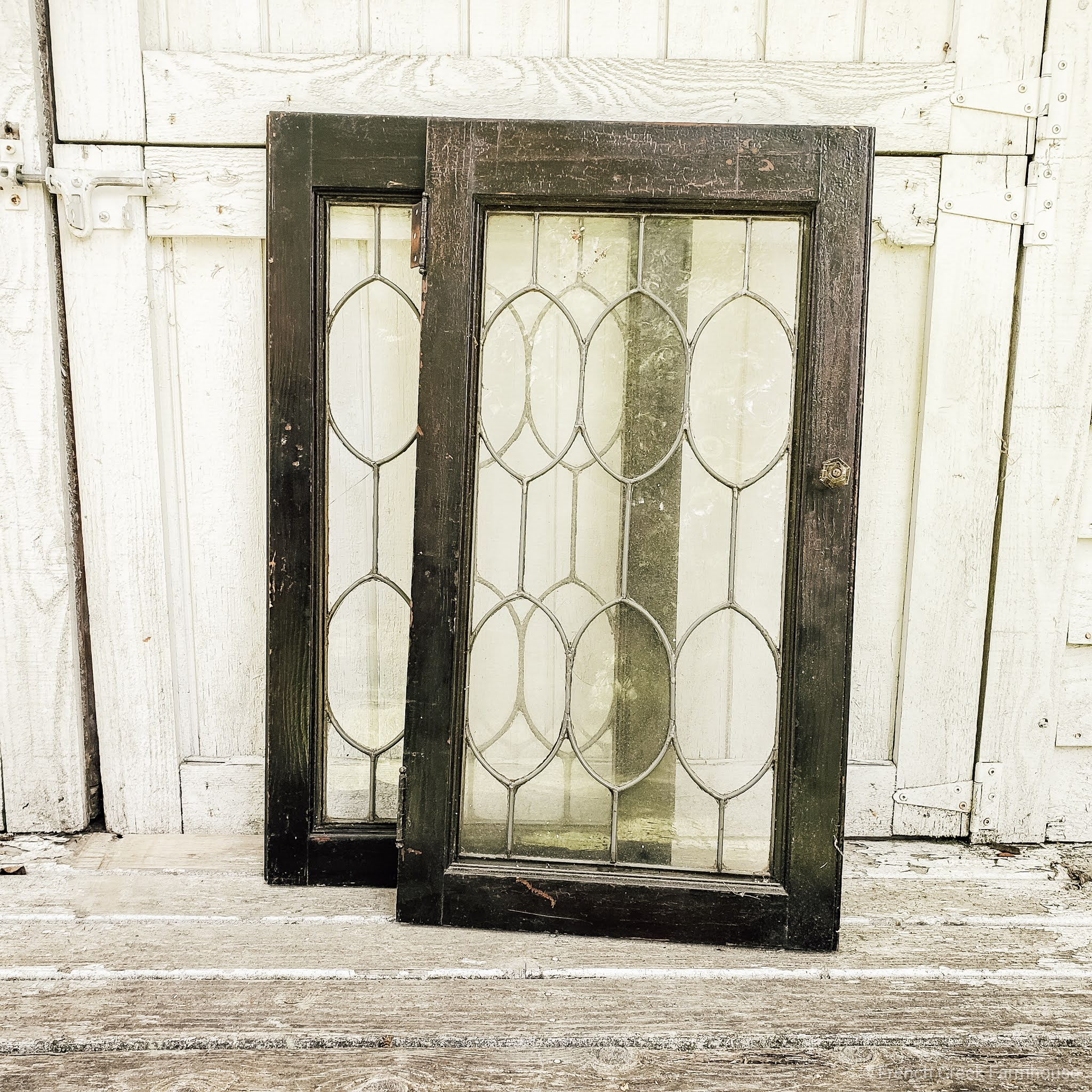 Old windows add a charming vintage aesthetic