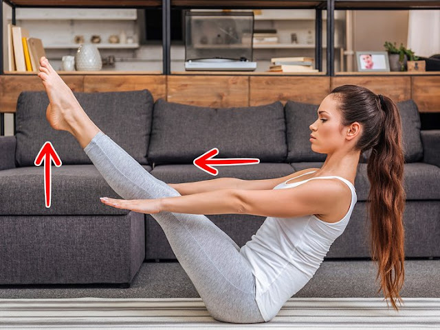 stretching to lose your fat easily at home