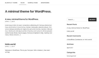 Slightly WordPress Theme