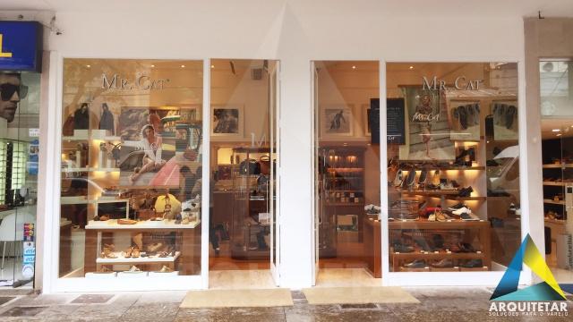 projeto arquitetura fachada loja calçados masculinos femininos mr cat icaraí