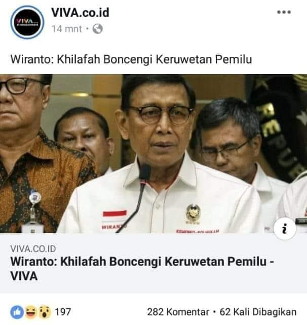 Hey Wiranto Yang Bikin Ruwet Siapa?