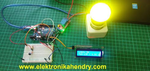 saklar otomatis sensor suhu ldr lcd arduino
