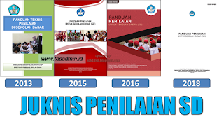 juknis penilaian SD 2013, 2015, 2016, 2018