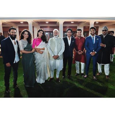 Modi ji with aamir khan