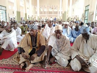 Cikin hotuna: Sallar Juma'a a babban Masallacin Juma'a na jihar Kebbi Central Mosque