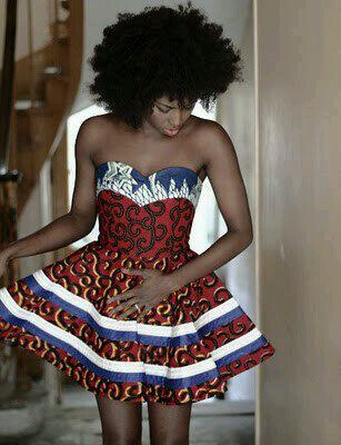 sexy short Ankara dress styles