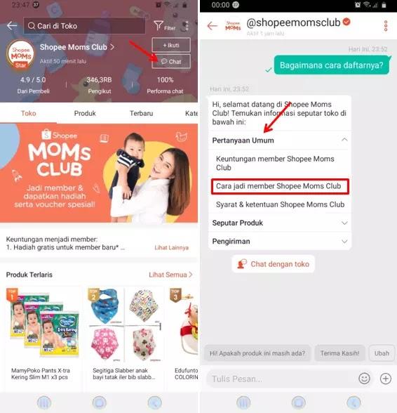 Cara Daftar Shopee Moms Club-2