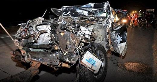 Kecelakaan Kapolres Tulungagung dan Istri di Tol SuMo
