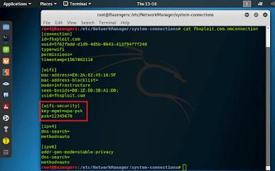 cara melihat password wifi di terminal