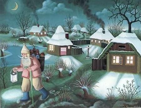 Il mondo di Mary Antony Pittori Naif Croati  Natale naif