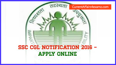 SSC CGL Notification 2016