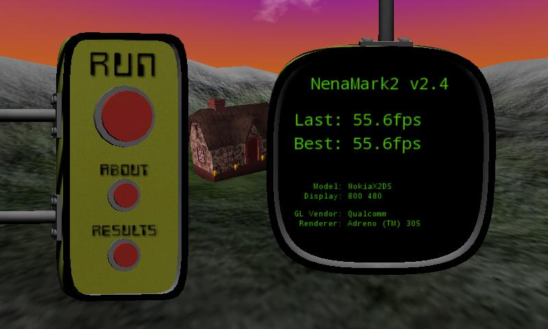 Nokia X2 Hands-on Nenamark Score