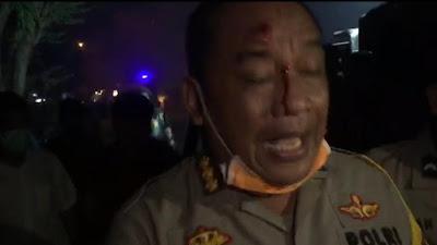 Aksi Demo Mahasiswa Ricuh, Karo Ops Polda Banten Luka Terkena Lemparan Batu