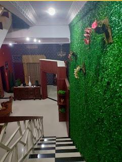 Ruang tamu rumah mewah FULLY FURNISHED di Jl. Guru Sinumba - Karya Dalam Medan