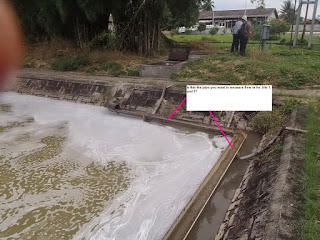 Flow Meter Air limbah Pabrik CPO