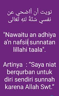Niat Qurban Untuk Sendiri dan Keluarga