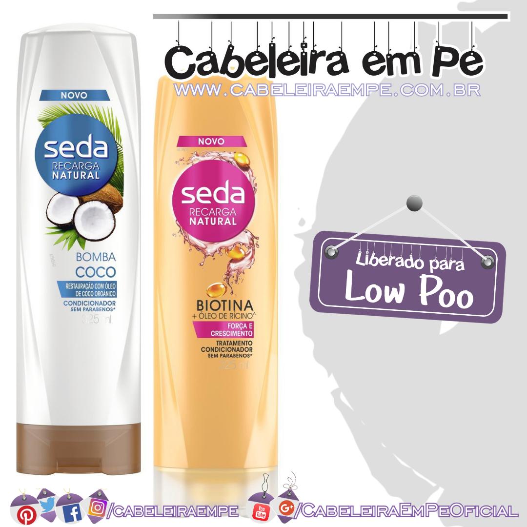Condicionadores Bomba Coco & Biotina e Óleo de Rícino - Seda (Low Poo)