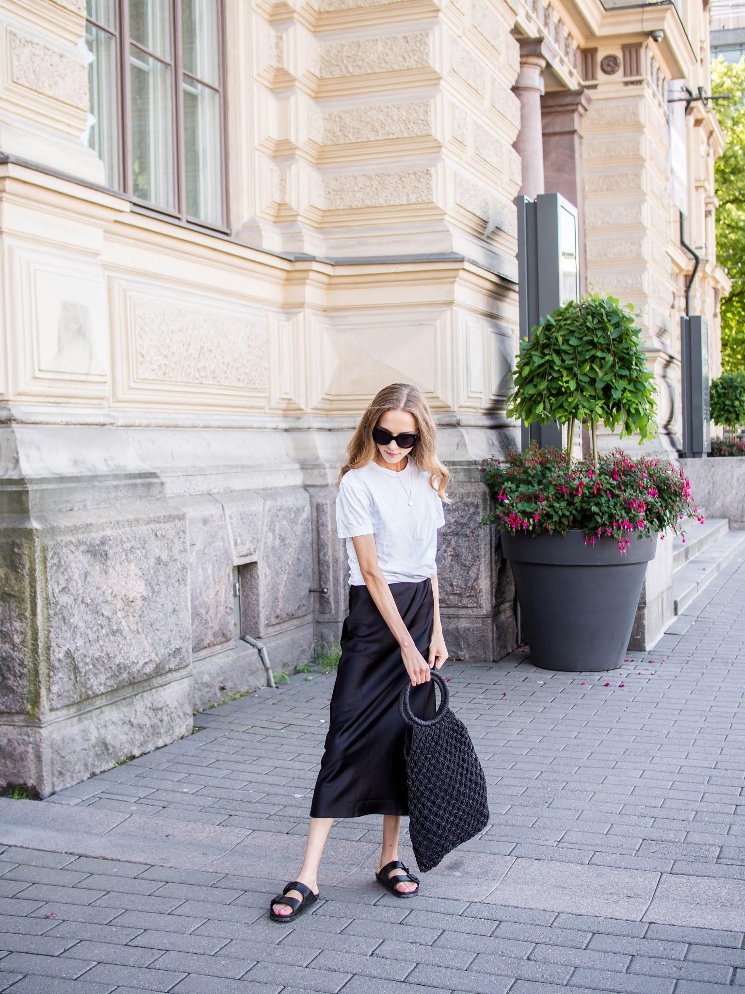 Black and white summer outfit - Mustavalkoinen asu kesään