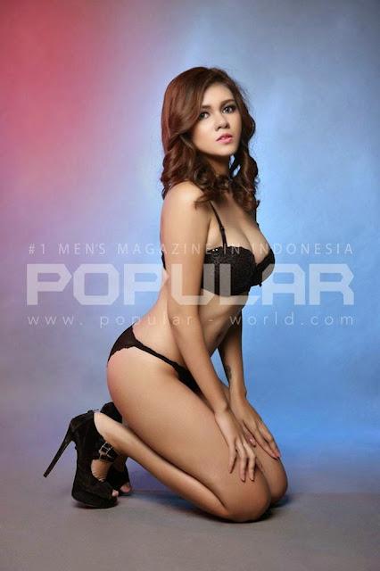Nadine Iskandar On Black Lingerie Sexy on Popular Magazine