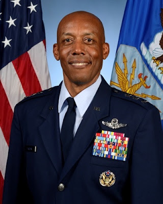 image result for General charles q brown first african american Air Force chief of staff,