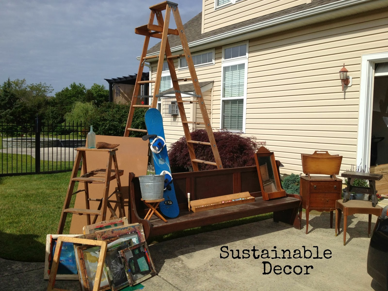 Sustainable Decor Wordless Wednesday Yard Sale Finds And