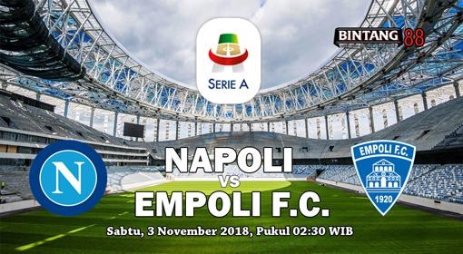 Prediksi Bola Napoli vs Empoli 3 November 2018