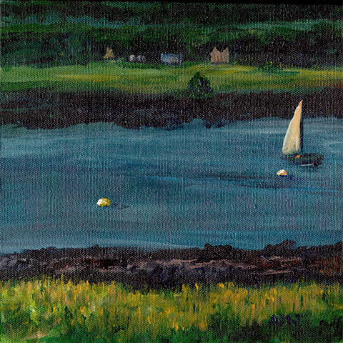 Looking for my glasses along the Annapolis Basin- Original Painting