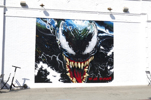 Venom movie wall mural ad