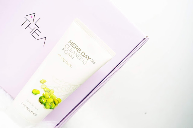 1. The Face Shop Herb Day 365 Cleansing Foam Mung Beans