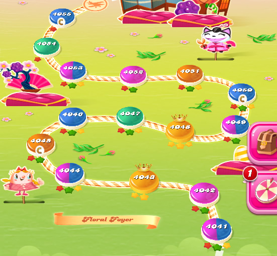 Candy Crush Saga level 4041-4055