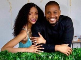 Alex Ekubo engages his girlfriend