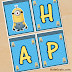 Minions Free Printable Happy Birthday Banners.