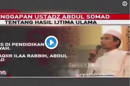 Diwawancara TvOne, Inilah Tanggapan Ustadz Abdul Somad tentang Usulan Cawapres Hasil Ijtima Ulama