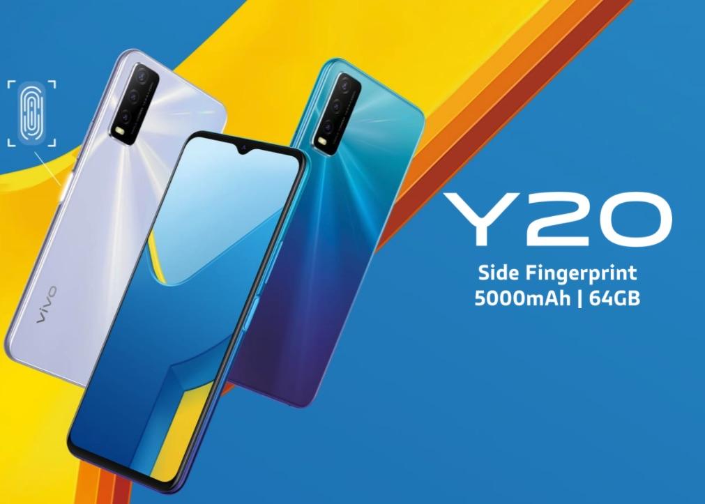 Harga dan Spesifikasi Vivo Y20 RAM 3GB ROM 32GB Bertenaga Snapdragon 460