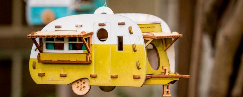 Caravana camper para pájaros.