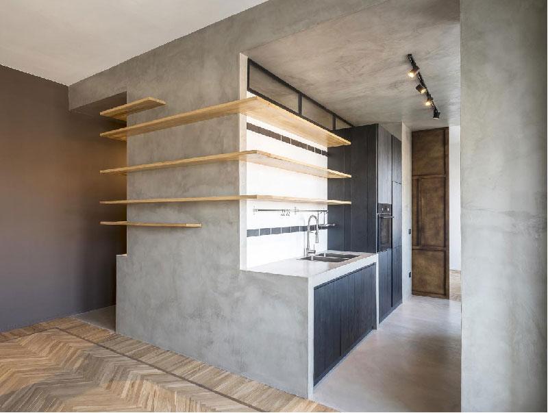 cucina in cemento