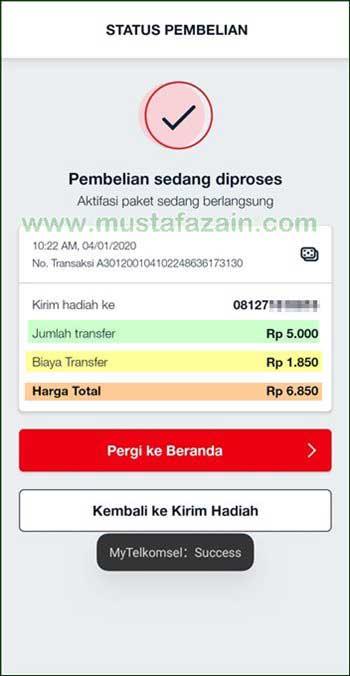 Cara Transfer Pulsa Telkomsel Dari Aplikasi MyTelkomsel