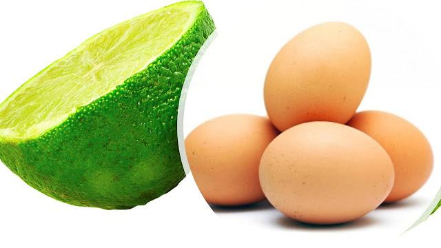 Limon y huevos contra la caspa