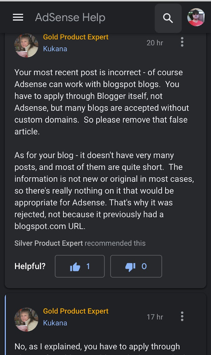 No anymore google Adsense approving sites with blogspot.com