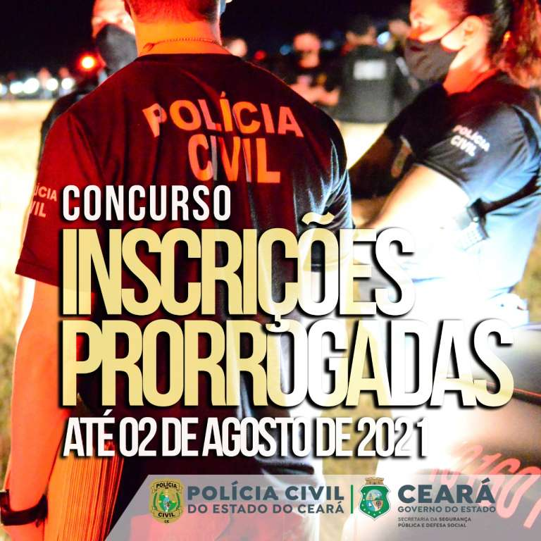 Inscrições para concurso da Polícia Civil são prorrogadas até 2 de agosto