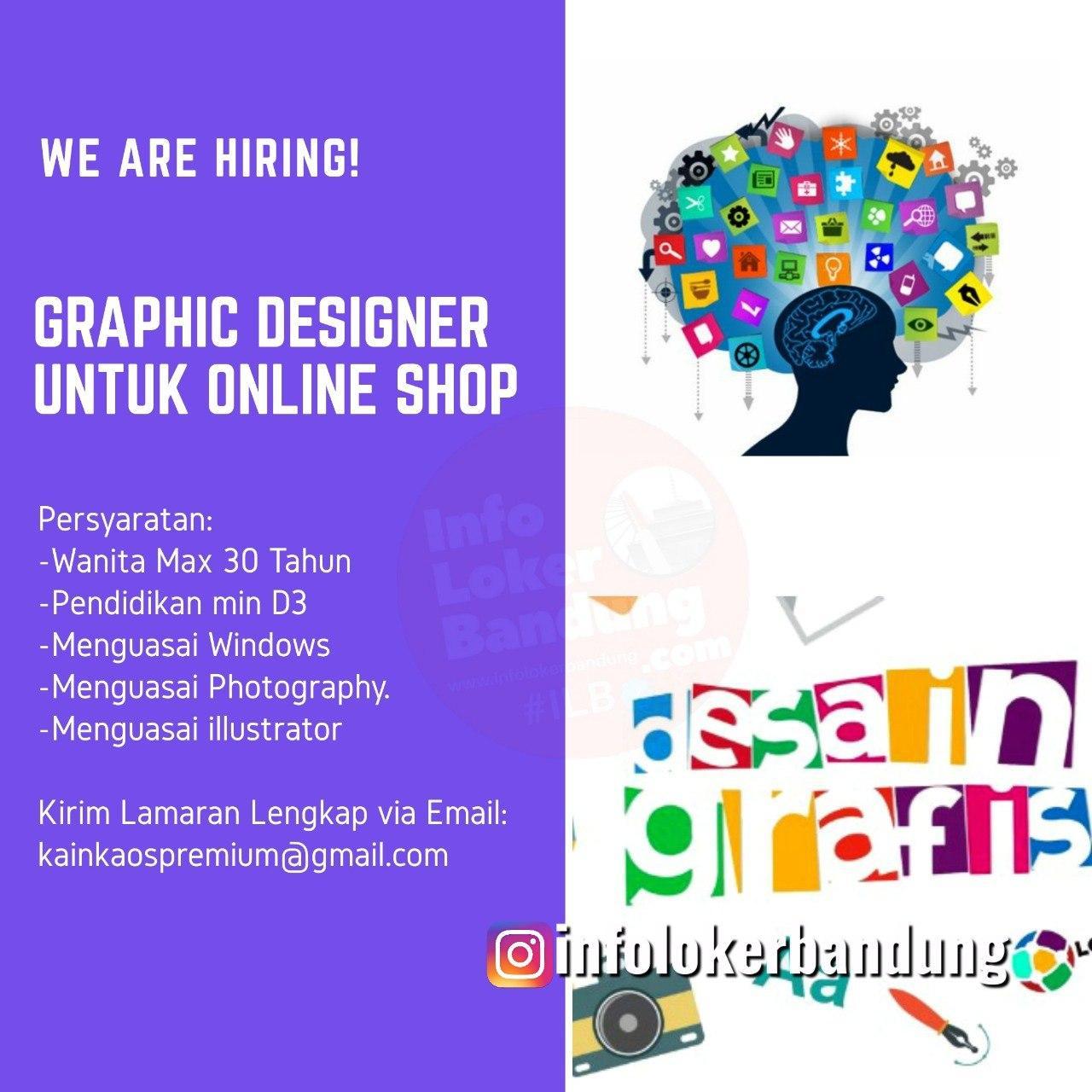 Lowongan Kerja Graphic Designer Untuk Online Shop Bandung Agustus 2020