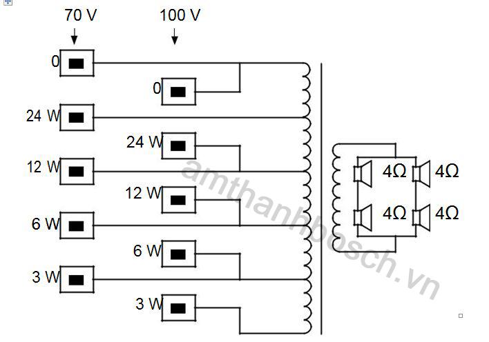 Sơ đồ nốí mạch lao cột LA1-UW24-x1