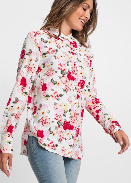 camicia a fiori bonprix primavera