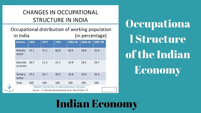 Occupational structure of the Indian population- Primary, secondary and tertiary Sector,Indian economy,Economics,  Sit On Exam