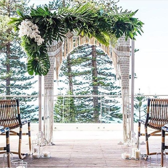 Wedding Pretty: Macrame Ceremony Backgrounds