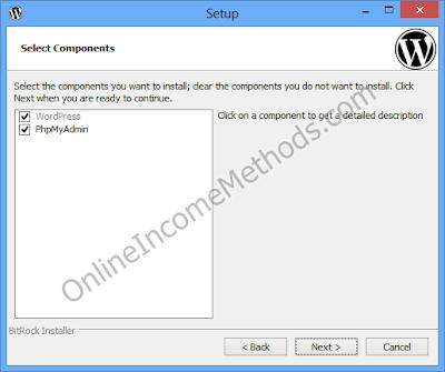 BitNami WordPress Stack Localhost - Windows Setup - PhpMyAdmin