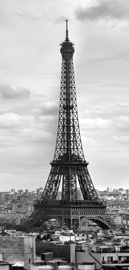 Paris Paris Eiffel Tower Black And White